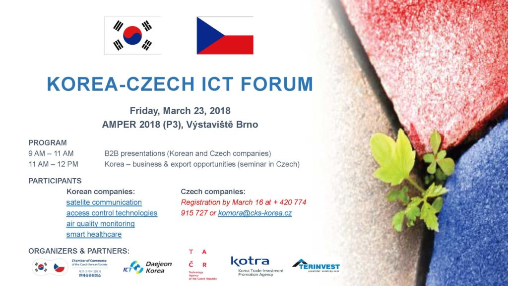 Korea-Czech ICT Forum 2018 - invite ENG